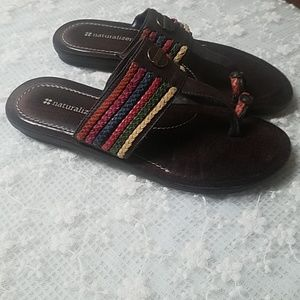 Sandals Size 7 Naturalizer Brown